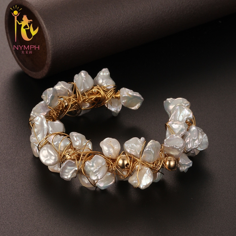 [NYMPH] pearl bracelets natural pearl jewelry baroque natural fresh water pearl bracelet for women S311 [nymph] pearl bracelets natural pearl jewelry baroque natural fresh water pearl bracelet for women s311