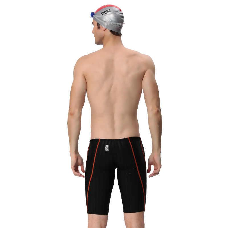 Плюс Размеры Профессиональный Для мужчин Одежда заплыва Мужские Шорты для купания Двусторонняя Водонепроницаемый пятый Брюки для девочек Купальники для малышек Sharkskin дренажной линии купальники S-3XL