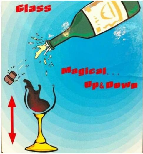 Floating Airborne Wine And Glass - Electric Version /Magic Tricks,Mentalism,Stage Magic Props, Illusions,Close-Up,Comedy,Street nick lewin s ultimate electric chair and paper balls over head magic tricks