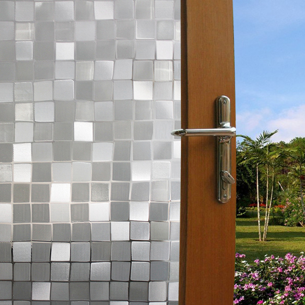 Bathroom window stained glass film bathroom stained glass for Decorative window glass types