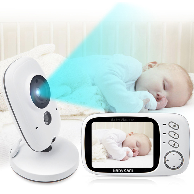 BabyKam 3.2 inch LCD Wireless Video Baby Camera Monitor Night Vision ...