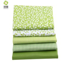 Shuanshuo Fresh Green Group Fat Quarter Patchwork Cloth Sewing Different Sizes 100% Cotton Meter Fabric 40*50CM 5PCS/LOT(Hong Kong,China)