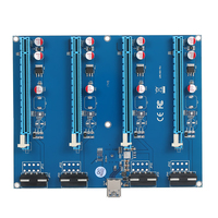 PCI E 1 To 4 PCI Express 16X Slots Riser Card Mining Modules PCI E 1X