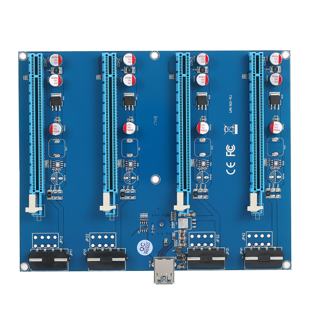 PCI-E 1 to 4 PCI Express 16X Slots Riser Card Mining Modules PCI-e 1X to External 4 PCIe Slots Adapter Pcie Port Multiplier 5pcs 1 to 4 pcie pci express 16x riser card pci e 1x to external 4 pci e slot adapter multiplier card for bitcoin miner mining