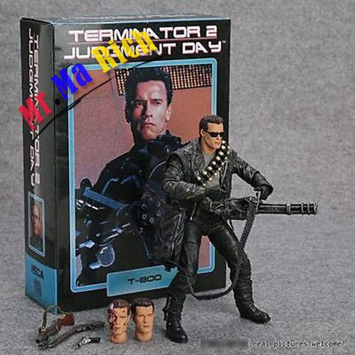 Anime Neca Terminator 2 Judgment Day T-800 Ultimate Deluxe Arnold Action Figure neca the terminator 2 action figure t 800 endoskeleton classic figure toy 718cm 7styles