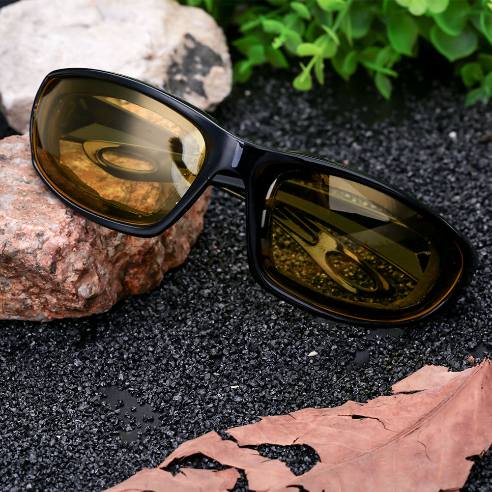 Очки для вождения ветрозащитные солнцезащитные очки Экстремальные спортивные мотоциклетные защитные очки для вождения для мужчин или женщин - Цвет: black frame and yell