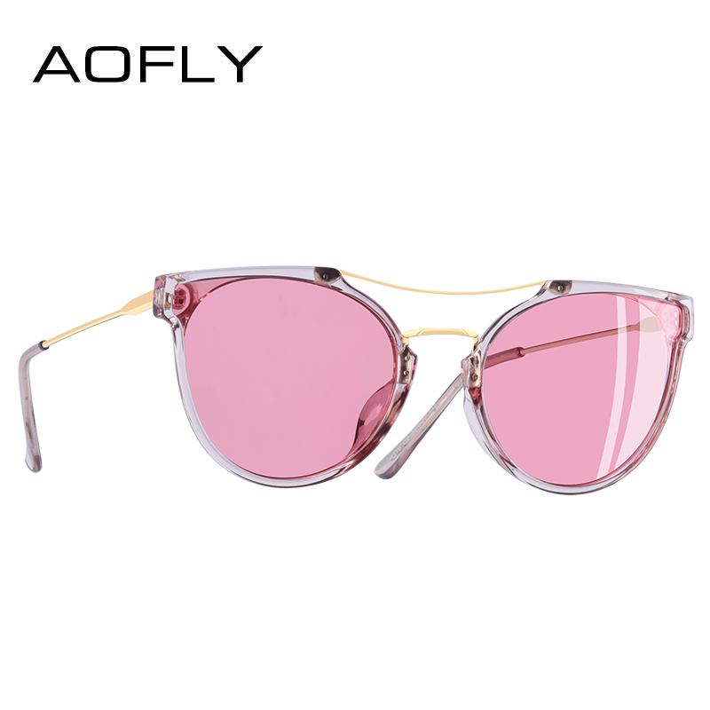 Image 2 - AOFLY BRAND DESIGN Fashion Sexy Cat Eye Polarized Sunglasses Women 2020 Sunglasses Classic Gradient Eyewear Oculos UV400 A116Womens Sunglasses   -