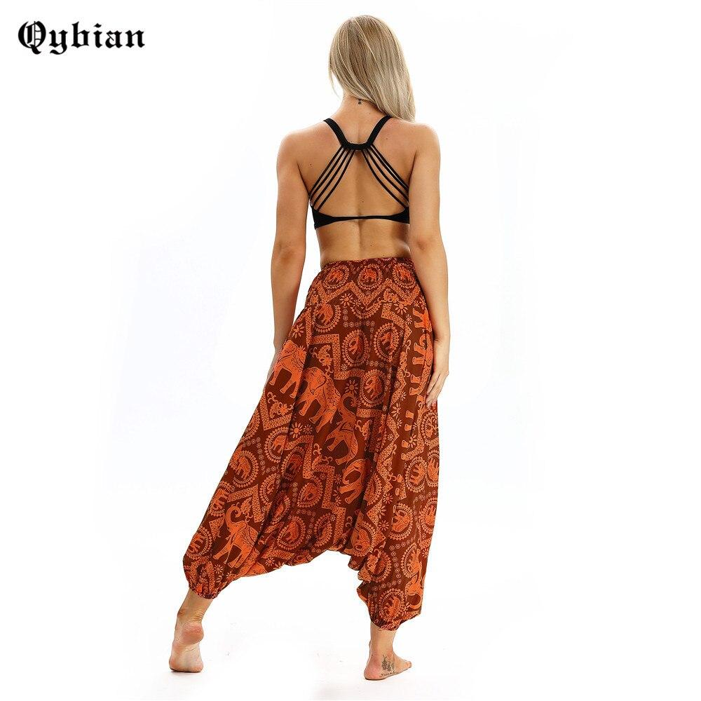 Qyiban Harajuku 3D Orange elephantSporting   Pants   Pantalones Mujer Cintura Alta   Wide     Leg     Pants   Women Trousers Full Hip Hop   Pants