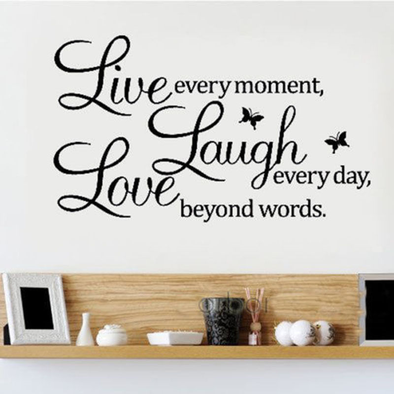 New Diy Quote Live Laugh Love Wall Stickers Removable Vinyl Decal