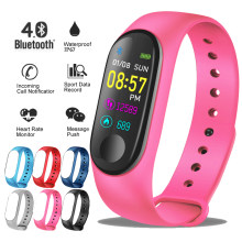 Ini 2019 Baru Smart Sport Watch Wanita Heart Rate Tekanan Darah Monitor Smart Gelang Kebugaran Tracker Pedometer PK M3 Band + Kotak(China)