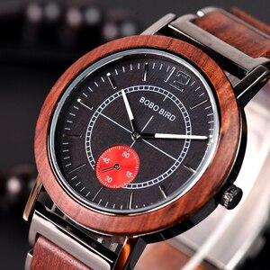 Image 4 - BOBO BIRD montre pour amoureux, luxe, bracelet en bois pour Couple élégant et de qualité, combinaison de couleur spéciale, K R12