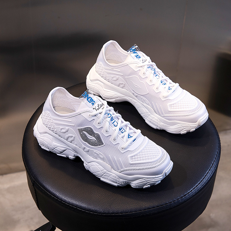 Prowow 2019 Women Sport Shoes For Ladies Sneakers Walking Female Running Shoes Summer Breathable Mesh Gir Brand Luxury in Running Shoes from Sports Entertainment