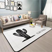Скандинавские ковры С КАКТУСОМ для гостиной простые серые домашние