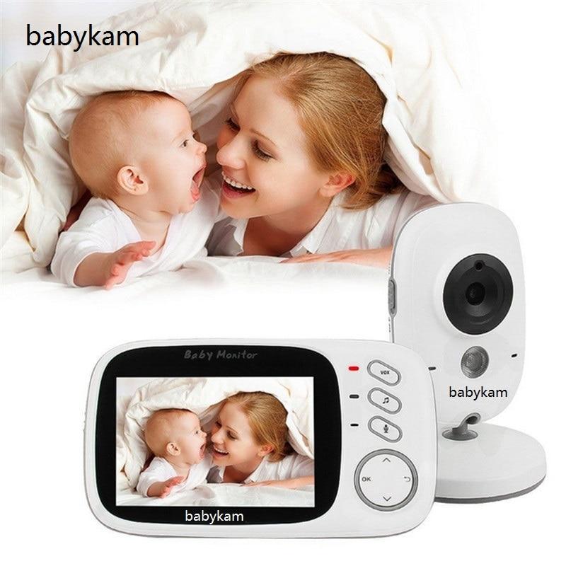 Babykam Fetal Doppler Video Baby Monitor 3.2 inch IR Night vision 2 way talk 8 Lullabies Temperature monitor video baby monitor help your baby talk