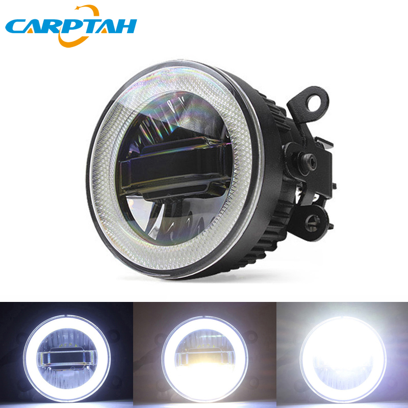 CARPTAH Fog Lamp LED Car Light Daytime Running Light DRL 3 in 1 Functions Auto Projector