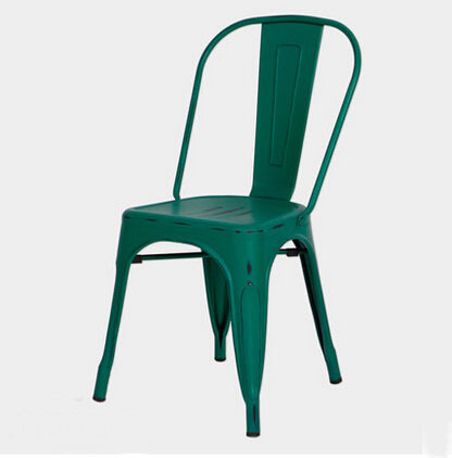 Free Shipping Army Green Vintage Side Chair