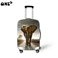 ONE2 Design vintage elephant lifelike animal simple luggage cover to 18-30 inch for teenager women man girl boy college students