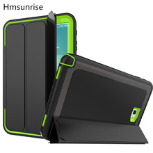 Hmsunrise For SM-T580 Case For Samsung Galaxy Tab A 10.1 T580 T585 Kids Safe Shockproof TPU Cover full protection for SM-T585