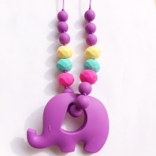 Dentition Elephant et signe de paix dentition Clips mode Silicone Chew dentition collier jouet
