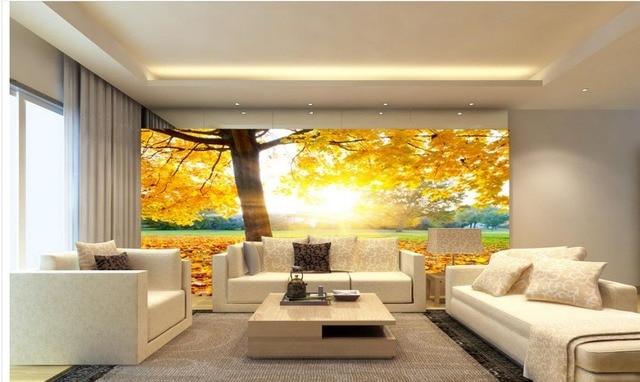 3d wallpaper mural Gold leaf Photo wallpaper custom wallpaper TV ...