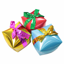 цены Gift Box Foil Balloons Cube Christmas Party Decorations Party Balloons Inflatable Helium Balloon Wedding Decor Classic Toys