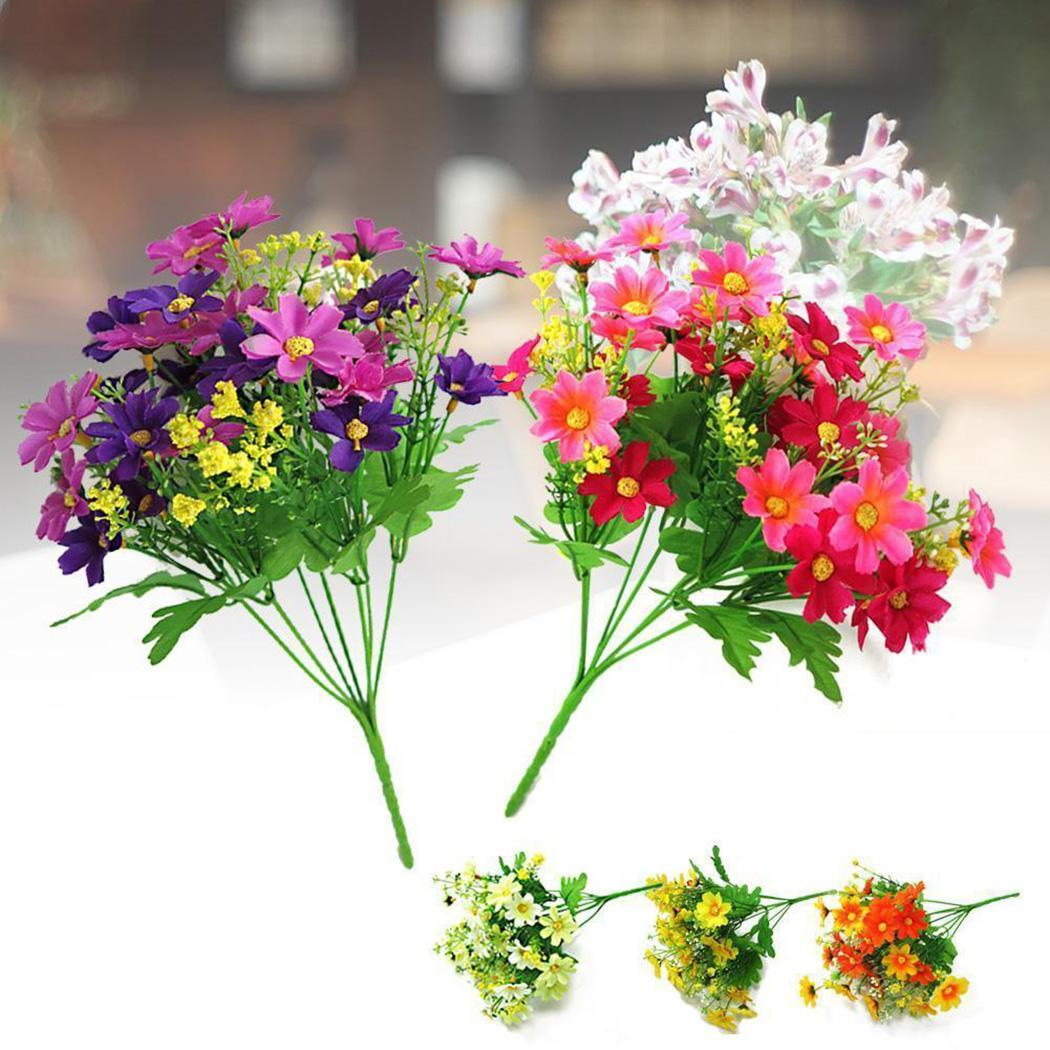 8 Bunch Party Flowers Home 1 Decor 11 Inch Fake Outdoor