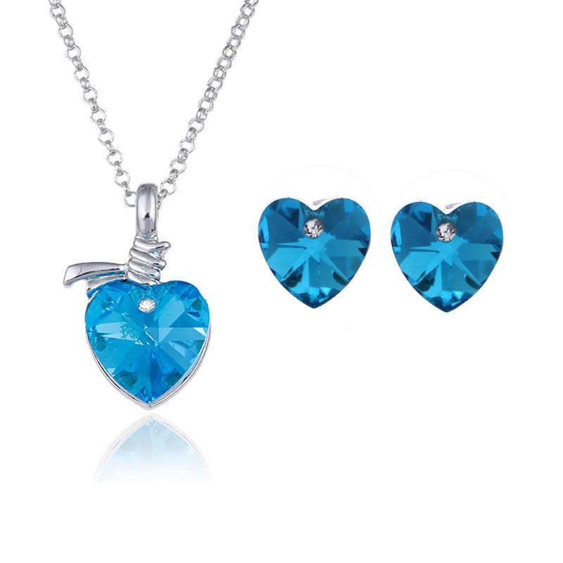 En gros 2014 bijoux en cristal d'été chaud coréen explosion modèles autrichien cristal pendentifs colliers boucles d'oreilles bijoux ensembles