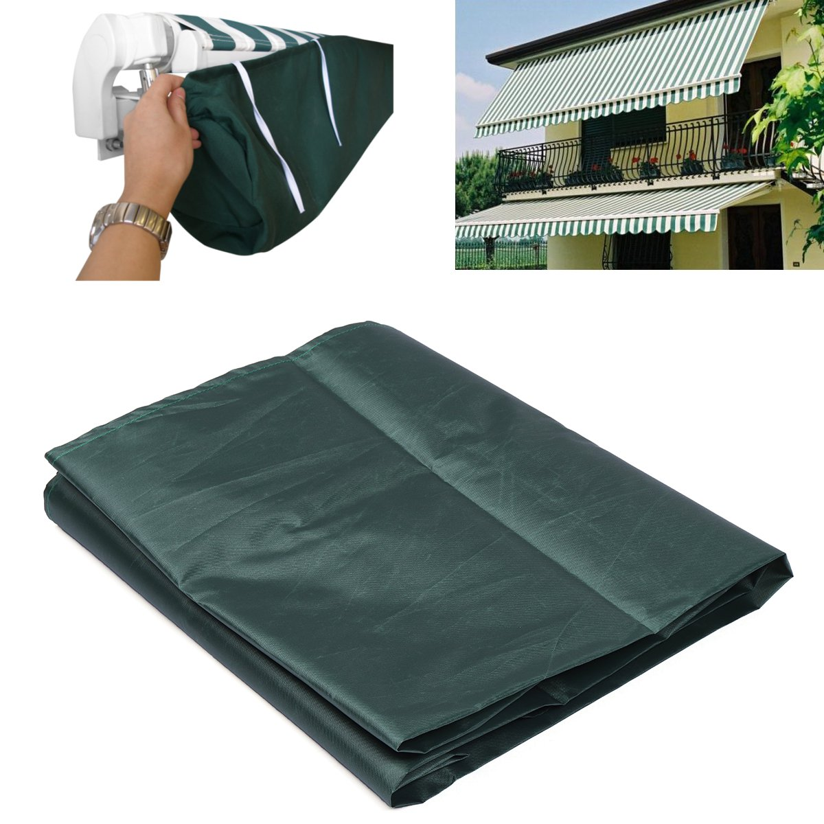Patio Awning Storage Bag 5 Sizes Green Winter Rain Weather Cover Protector Sun Canopy Shelter Shade