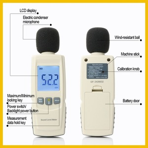 RZ البسيطة مستوى الصوت متر ديسيبل متر المسجل الضوضاء الصوت كاشف الرقمية التشخيص أداة السيارات ميكروفون GM1352