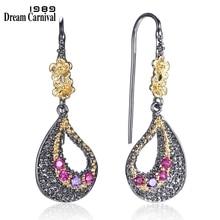 DreamCarnival 1989 New Arrive 2019 Hot Selling Earrings for Women Water Drop Shape Flowers on Hook Casual Parties Fashion WE3858