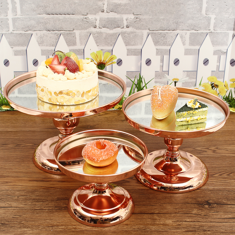 Silver Rose Gold Cake Stand With 18 Inch Cupcake Stand Wedding