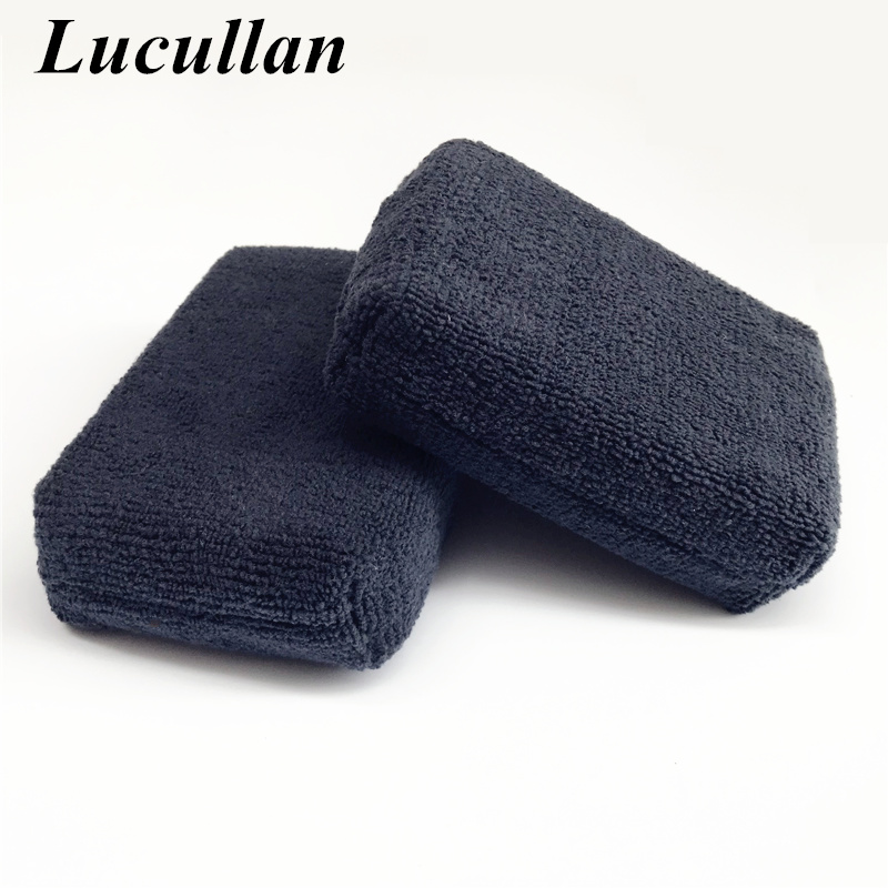 5 PCS Car Care Premium Microfiber Applicators Sponges,Cloths,Microfibre Hand Wax Polishing Detailing Pad