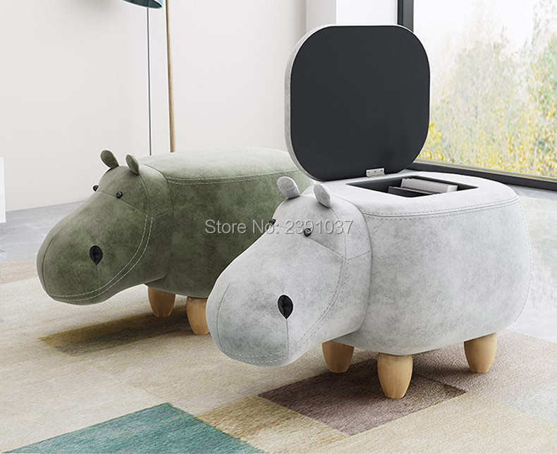 Creative Hippopotamus Home Stool Ottoman European hippopotamus, stools, doorstools, shoes stools, pet stools hippopotamus animal series many chew toy