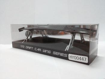 Ewellsold di carbonio di colore 1/10 RC auto ala set RC auto spoiler per 1/10 RC auto da corsa di trasporto libero