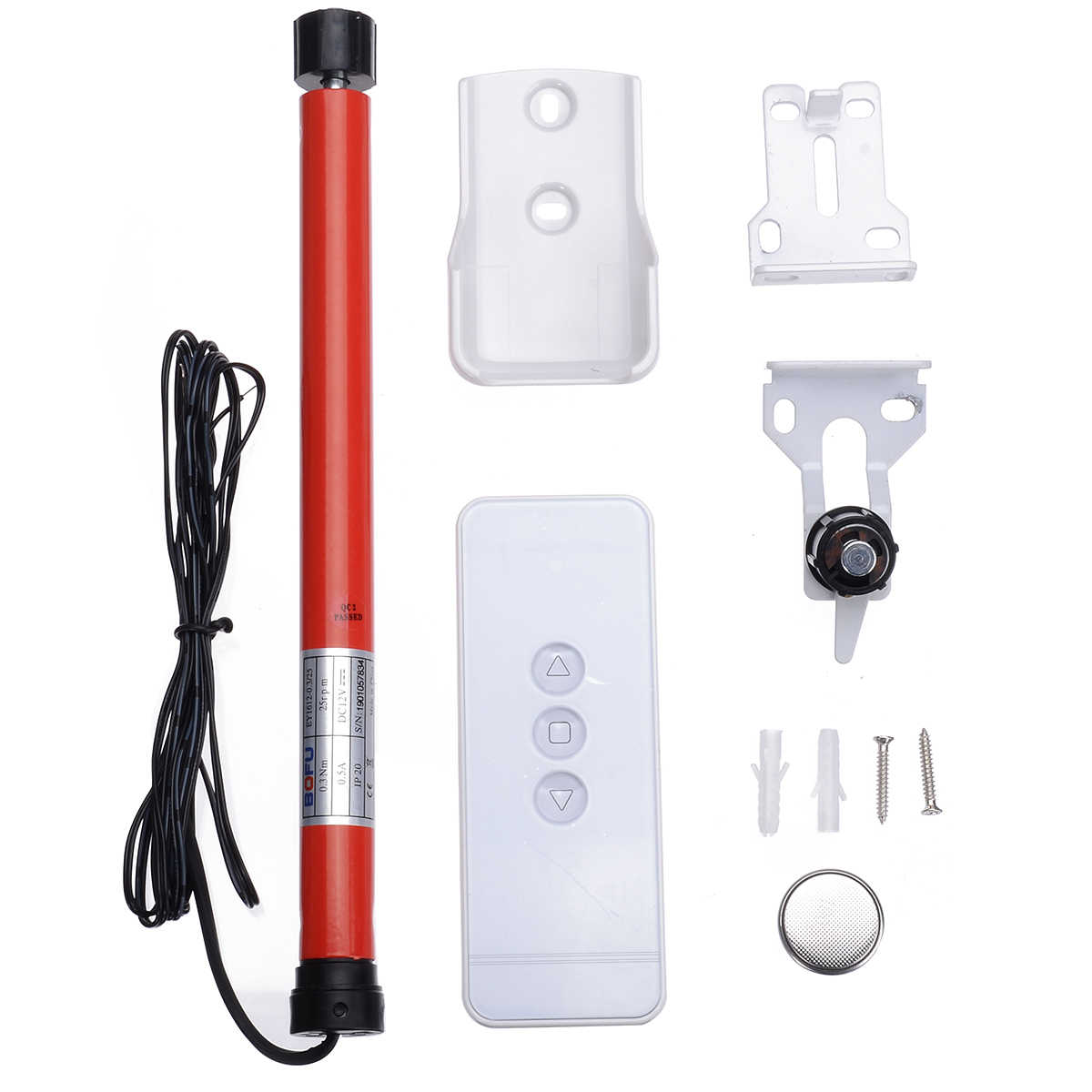 12V Electric Roller Blind DIY Roll-up Window Shade Tubular Tool with Remote Control for Home Decor Roller Shade Mayitr