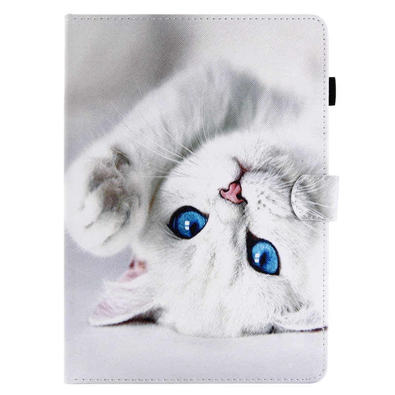 SM-T550 Fashion Cat Butterfly Painted Case For Samsung Galaxy Tab A 9.7 SM-T555 T550 P555 Smart Cover Funda Tablet Stand Shell