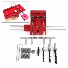 3 In 1 Woodworking Drill Guide Kit Locator Doweling Jig Joinery System for Furniture Hole Puncher Set Aluminium Alloy new dowelling jig for furniture fast connecting cam fitting 3 in 1 woodworking drill guide kit locator