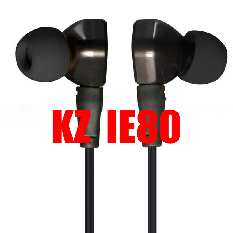 Original Quality KZ IE80 Noise Cancelling HiFi Deep Bass In-Ear Stereo Music Mobile Earphones for iphone 6 7 7plus efsi neo 1 0