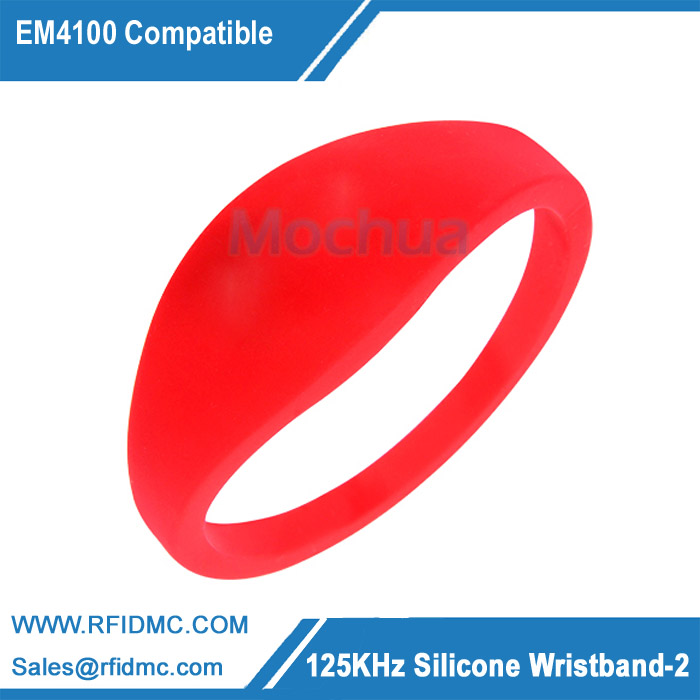 (10pcs/lot) Waterproof Silicone Wristband RFID 125KHz Bracelet Read Only (Compatible with EM4100) 125khz silicone rfid wristband with em chip read only waterproof bracelet for spa fitness sauna access control 500pcs lot
