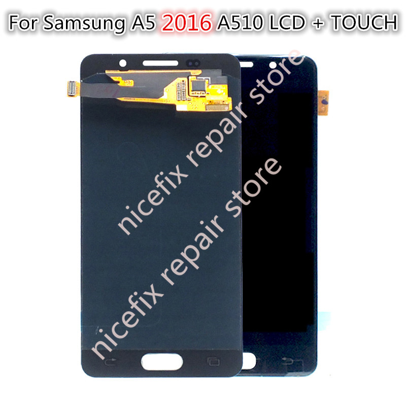 "5.2"" AMOLED LCD for SAMSUNG Galaxy A5 2016 Display LCD A510 A510F A510M Touch Screen Digitizer LCD Replacement with tools-in Mobile Phone LCD Screens from Cellphones & Telecommunications    1"