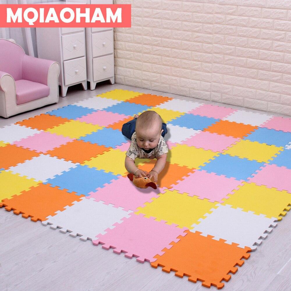 Детский коврик-пазл из вспененного этилвинилацетата MQIAOHAM, 18, 24 or3, 6 шт./набор, коврик для упражнений, напольный ковер для детей, толщина 29х29cm0....