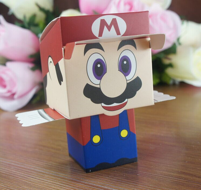200pcs cartoon Super Bros Princess Peach Bride and Groom wedding favors candy box wedding Party gift Bags Baby show Boxes
