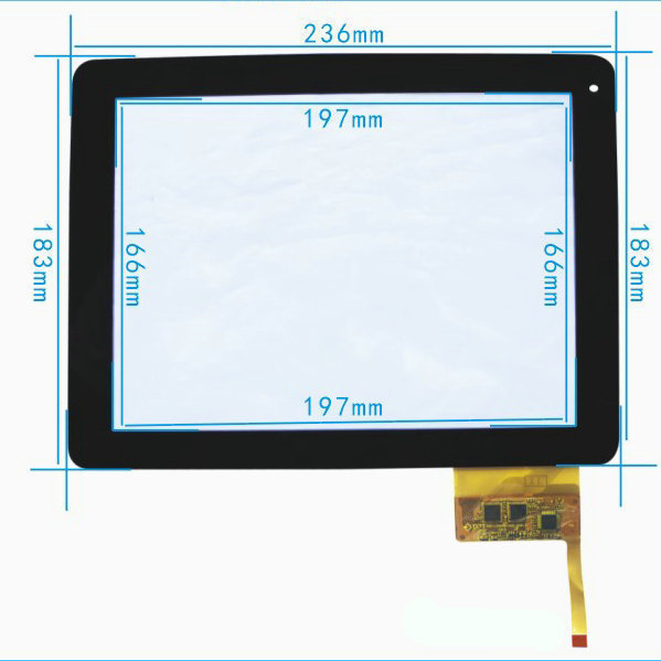 New 9.7 Touch Screen Panel YARVIK TAB465EUK GoTab EXXA 9.7 Tablet Replacement Digitizer Glass Sensor Parts Free Shipping 7 for dexp ursus s170 tablet touch screen digitizer glass sensor panel replacement free shipping black w