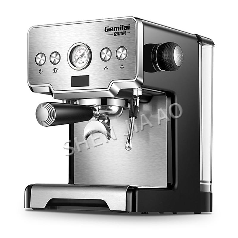 Acier inoxydable cafetière italienne expresso machine à café 15bar maison semi-automatique pompe type machine à café 1450W