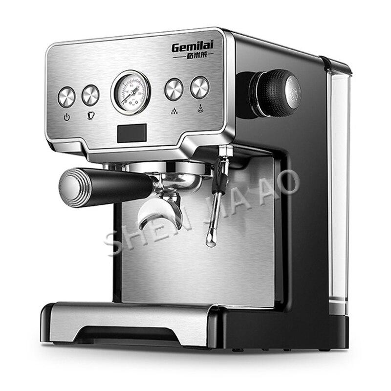 Cafetera italiana de acero inoxidable, cafetera espresso de 15 bar, cafetera semiautomática para el hogar de 1450W
