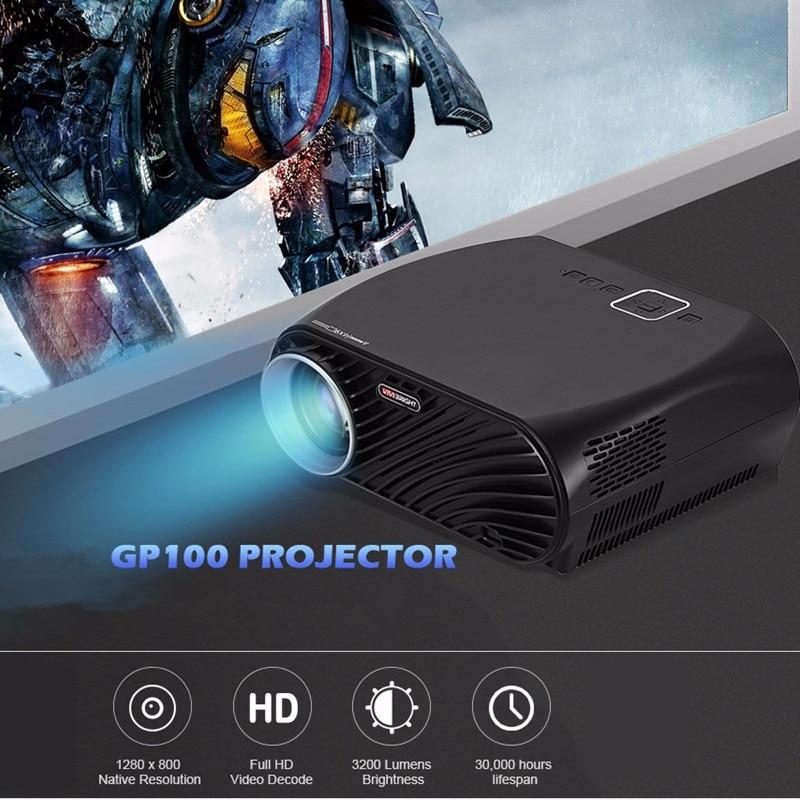 Projecteur LCD VIVIBRIGHT GP100 Full HD 3200 Lumen 1080 P wifi LED projecteur vidéo cinéma maison LCD