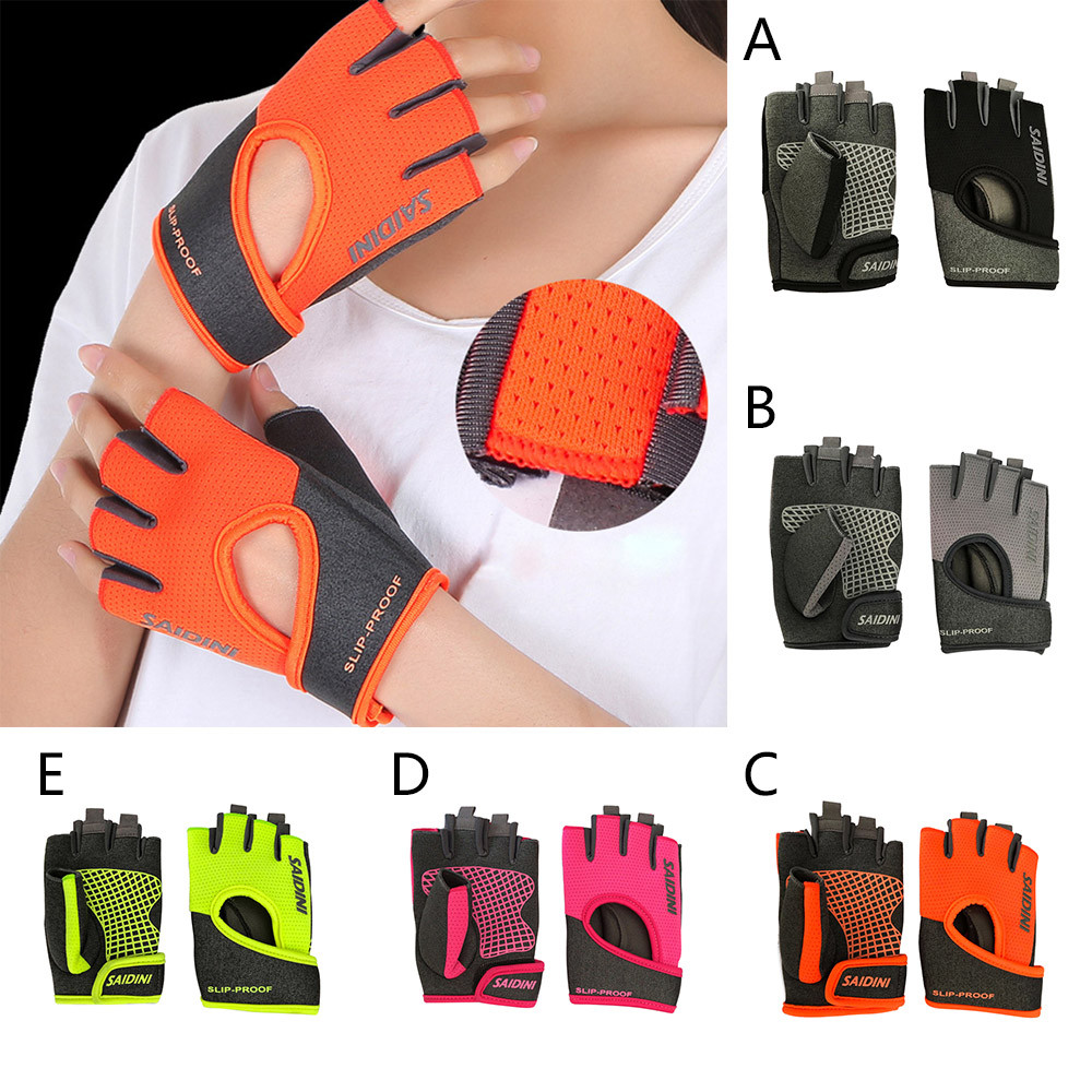 Women's Yoga Fitness Gloves Weight Lifting Gym Training Sports Bicycle Gloves Half Finger Sports Style For Women Fashion Gift