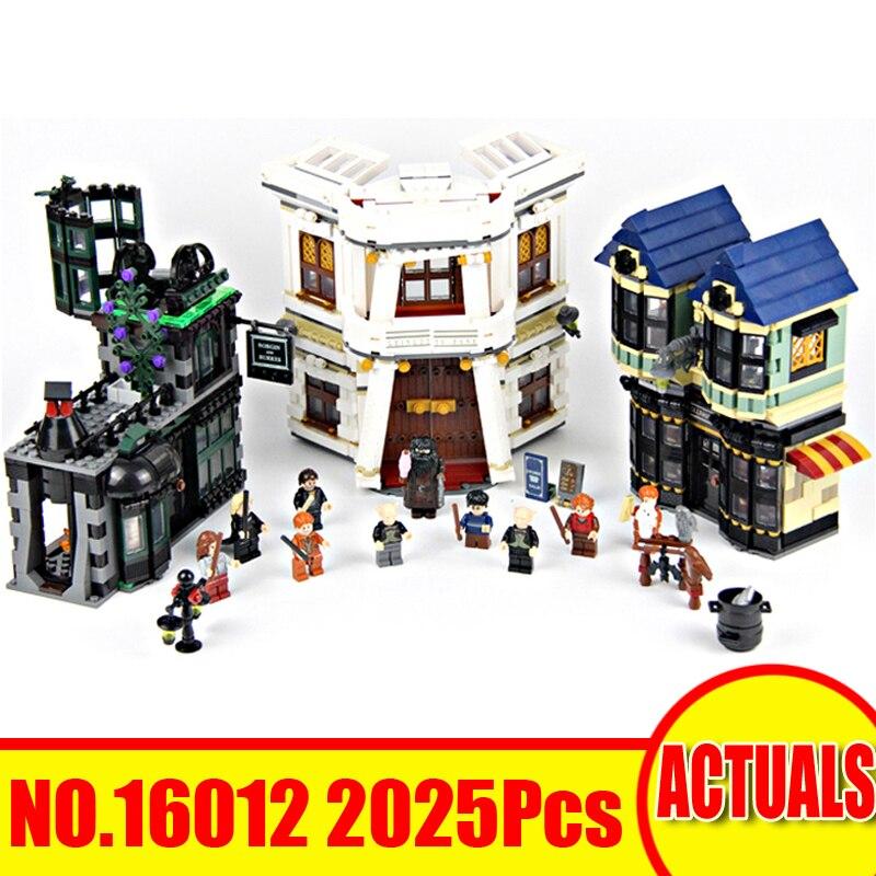 Lepin 16012 2025 pcs Harry Film Potter Diagon Ruelle Ensemble Modèle Kits de Construction Blocs Briques Jouet Pour Enfants Compatible Avec 10217