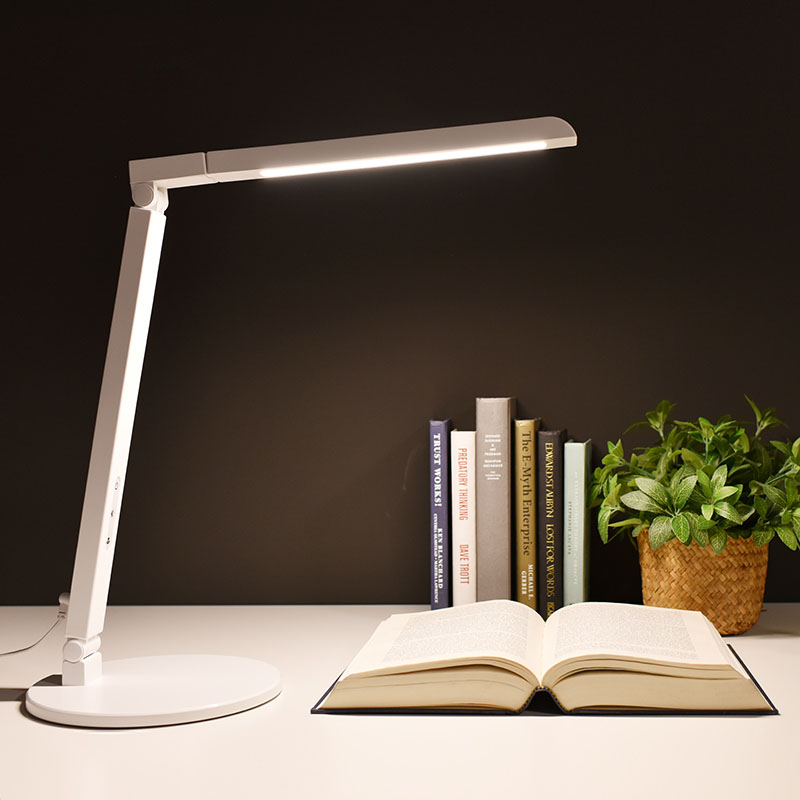 Modern Folding LED Table Lamp 8W Dimmable Desk Lamp 5-level Brightness Touch Switch Office Work Lamp Adjustable Reading Lights 180 head rotate rechargesble dimmable touch switch folding led desk lamp 4 watt 50 leds luminaria de mesa
