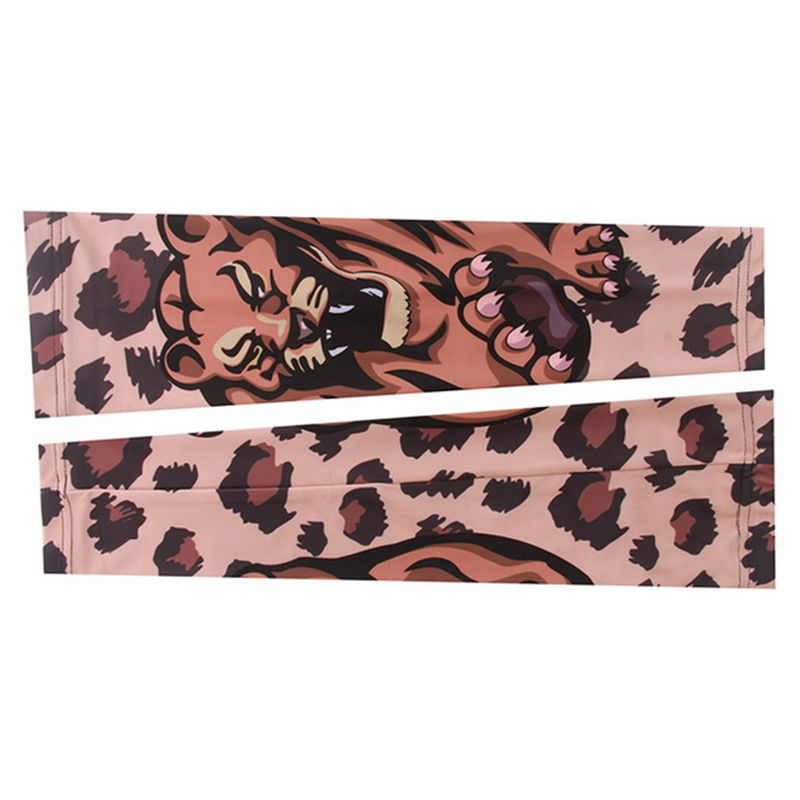 Leopard Cycling Bike Bicycle UV Sun Protection Arm Cuff Sleeve Cover